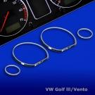 Комплект хромированных колец JOM для VW Golf 3, Vento