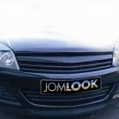 Решетка без значка черная JOM для Opel Astra H 5D