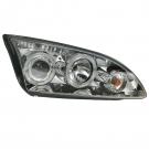 Фары передние хром ангельские глазки JOM для Ford Focus 2 (04-08