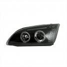 Фары передние черн ангельские глазки JOM для Ford Focus 2 (04-08