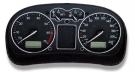 Кольца хром в приборную панель Jom для VW Golf 4, Bora