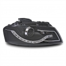 Фары тюнинг Devil eyes, Dayline черные JOM для Audi A3 8P (03-08